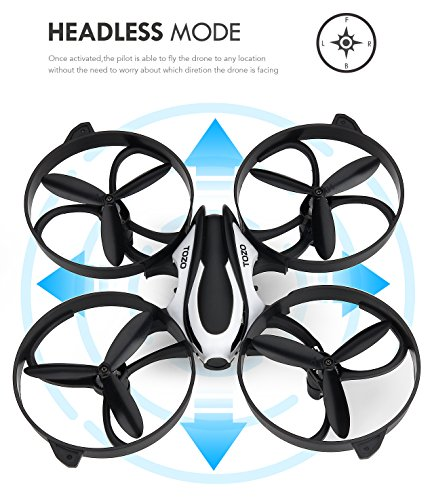TOZO-Q2020-Drone-RC-Mini-Quadcopter-Altitude-Hold-Height-Headless-RTF-3D-6-Axis-Gyro-4CH-24Ghz-Helicopter-Steady-Super-Easy-Fly-for-Training-Black-0-1