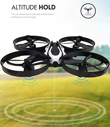 TOZO-Q2020-Drone-RC-Mini-Quadcopter-Altitude-Hold-Height-Headless-RTF-3D-6-Axis-Gyro-4CH-24Ghz-Helicopter-Steady-Super-Easy-Fly-for-Training-Black-0-3