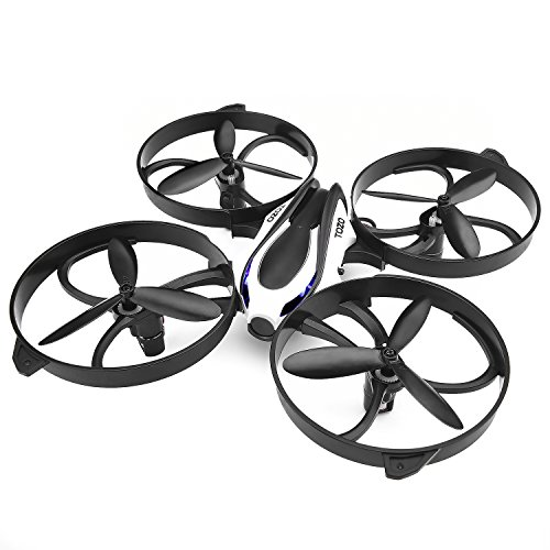 TOZO-Q2020-Drone-RC-Mini-Quadcopter-Altitude-Hold-Height-Headless-RTF-3D-6-Axis-Gyro-4CH-24Ghz-Helicopter-Steady-Super-Easy-Fly-for-Training-Black-0